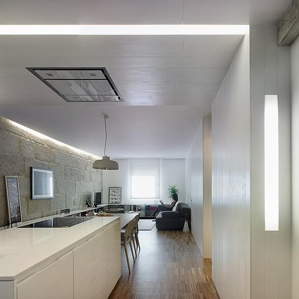 Apartamento 65 m2 en vigo donde el interiorismo combina madera piedra y blancos ilia estudio - Interiorismo vigo ...