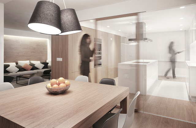 Dise o interior sencillo y lucido apartamento en valencia - Estudio interiorismo valencia ...